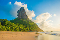 Pico Mountain above Boldro Beach, Fernando De Noronha Marine National Park, Brazil, Atlantic Ocean, World Heritage Site, Atlantic Ocean