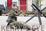 Action from the Listowel Military Tattoo battle in the Square on Sunday