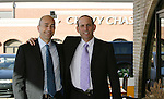 17 November 2007: MLS Commissioner Don Garber (r) and Deputy Commissioner Ivan Gazidis (l) before entering the summit. The Screaming Eagles, a DC United fan group, hosted the 2007 Supporters Summit, held at Babylon Futbol Club in Falls Church, Virginia one day before MLS Cup 2007, Major League Soccer's championship game.