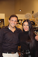Dayton Klein and Rachel Turzer attend the Kora Rae Holiday Collection + Preview Spring 2015 at Avedon Boutique.