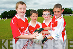 Having fun at the Kilcummin GAA Cúl Camp in Kilcummin. .L-R Conor O'Leary, Darragh Kennedy, Darragh Brosnan and Christopher Moynihan.