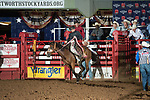 Colton Adams during first round of the Fort Worth Stockyards Pro Rodeo event in Fort Worth, TX - 8.16.2019 Photo by Christopher Thompson