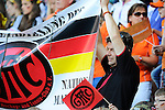 The Hague, Netherlands, June 06: German supporters hold up a banner of the Gladbacher Hockey Club before the field hockey group match (Men - Group B) between Germany and The Netherlands on June 6, 2014 during the World Cup 2014 at Kyocera Stadium in The Hague, Netherlands. Final score 0-1 (0-1) (Photo by Dirk Markgraf / www.265-images.com) *** Local caption ***
