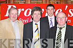 Bill Kennedy, Tim OKeeffe, John Murphy and John Daly attending the Brownes Nitrate meeting in the River Island Hotel Castleisland on Tuesday night.