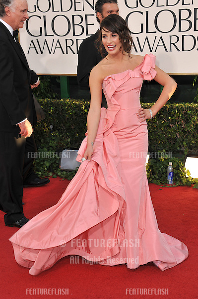 Lea Michele  at the 68th Annual Golden Globe Awards at the Beverly Hilton Hotel..January 16, 2011  Beverly Hills, CA.Picture: Paul Smith / Featureflash