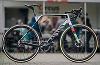 CX World Champion Mathieu Van Der Poel's (NED/Correndon-Circus) newest race machine<br /> <br /> Superprestige cyclocross Hoogstraten 2019 (BEL)<br /> Elite Men's Race<br /> <br /> &copy;kramon