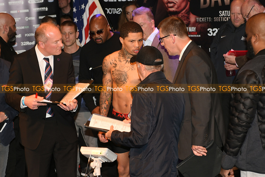 Gervonta Davis misses the weight during a Weigh-In at the Theatre Royal Stratford East on 19th May 2017