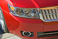 Front Car Grille, Headlight, Close Up, Raspberry Color
