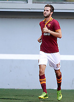"Calcio: allenamento a porte aperte ""Open Day"" per la presentazione della Roma, a Roma, stadio Olimpico, 21 agosto 2013.<br /> AS Roma midfielder Miralem Pjanic, of Bosnia, attends the club's Open Day training session at Rome's Olympic stadium, 21 August 2013.<br /> UPDATE IMAGES PRESS/Riccardo De Luca"