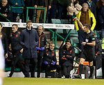 20.12.2019 Hibs v Rangers: Tom Culshaw sent to the stands