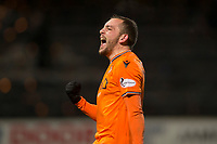 8th November 2019; Dens Park, Dundee, Scotland; Scottish Championship Football, Dundee Football Club versus Dundee United; Paul McMullan of Dundee United celebrates at the end of the match  - Editorial Use