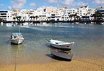 Boats in the harbour Charco de San Ginés, Arrecife, Lanzarote, Canary Islands, Spain