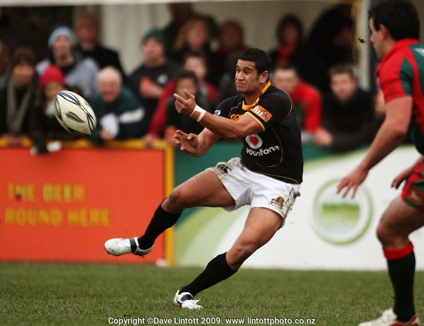 Wellington halfback Tomasi Palu during the Ranfurly Shield rugby match between the Wellington Lions and Wairarapa Bush at Trust House Memorial Park, Masterton, New Zealand on Saturday, 27 September 2008. Photo: Dave Lintott / lintottphoto.co.nz