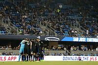 San Jose, CA - Saturday September 16, 2017: San Jose Earthquakes  during a Major League Soccer (MLS) match between the San Jose Earthquakes and the Houston Dynamo at Avaya Stadium.