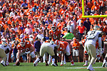 Clemson Tigers quarterback Kelly Bryant (2) waits for the ball to be snapped during first half action against the Wake Forest Demon Deacons at Memorial Stadium on October 7, 2017 in Clemson, South Carolina.  The Tigers defeated the Demon Deacons 28-14. (Brian Westerholt/Sports On Film)