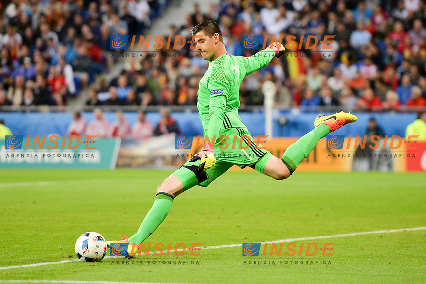 Thibaut Courtois (bel) <br /> Lyon 13-06-2016 Grand Stade de Lyon Football Euro2016 Belgium-Italy / Belgio-Italia Group Stage Group E. Foto Anthony Bibard / Panoramic / Insidefoto
