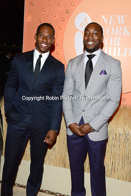 Victor Cruz and Mario Manningham  attends the New Yorkers for Children 15th Annual Fall Gala to Benefit Youth in Foster Care which is presented by Chloe and David Yurman at Cipriani 42nd Street on September 30,2014 in New York City. <br /> <br /> photo by Robin Platzer/Twin Images<br />  <br /> phone number 212-935-0770