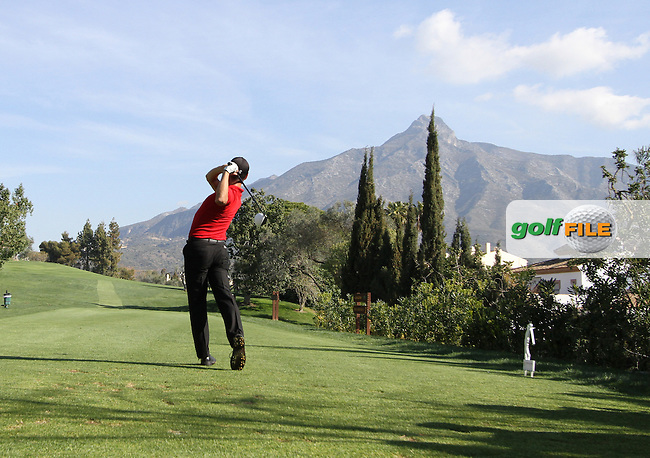 Javi Colomo (ESP) on the 3rd tee on Day 3 of the 2012 Open de Andalucia Costa del Sol at Aloha Golf Club, Marbella, Spain...(Photo Jenny Matthews/www.golffile.ie)