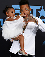 LOS ANGELES - JUN 25:  Aislin Parvaneh Collins, Kid Ink at the BET Awards 2017 at the Microsoft Theater on June 25, 2017 in Los Angeles, CA