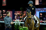 Scott Brash, Henrik von Eckermann, Jane Richard Philips and Raena Leung warn up and gives coaching session at the paddock during the Longines Hong Kong Masters 2015 at the AsiaWorld Expo on 12 February 2015 in Hong Kong, China. Photo by Juan Flor / Power Sport Images