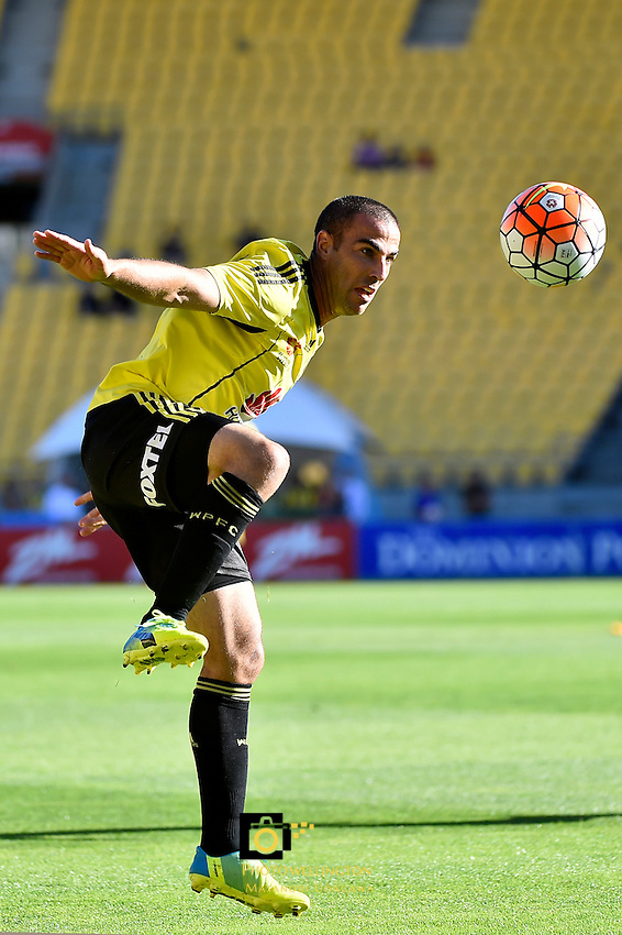Wellington Phoenix&rsquo; Emmanuel Muscat in action during the A League Football - Wellington Phoenix v Perth Glory at Westpac Stadium, Wellington, New Zealand on Sunday 20 March 2016.<br /> Photo by Masanori Udagawa. <br /> www.photowellington.photoshelter.com.
