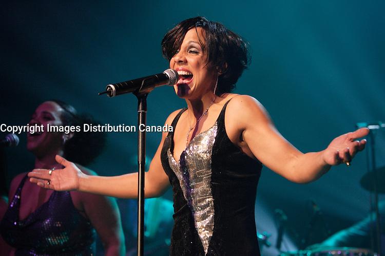 Montreal (QC) CANADA,Nov 5 2009-<br /> Sylvie Desgroseillers launche her second album : ENSEMBLES.<br /> Her son Noah Casselis accompany her for one song.