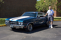 1970 Contemporary Chevelle (#30) – 1970 Chevrolet Chevelle Super Sport 2-Door Hardtop registered to Ron Kiefer is pictured during 4th State Representative Chevy Show on Thursday, June 30, 2016, in Fort Wayne, Indiana. (Photo by James Brosher)
