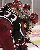 Val Turgeon (Harvard - 23), Dani Krzyszczyk (Harvard - 10), Erin Connolly (BC - 15) - The Boston College Eagles defeated the Harvard University Crimson 3-1 on Tuesday, January 10, 2017, at Fenway Park in Boston, Massachusetts.The Boston College Eagles defeated the Harvard University Crimson 3-1 on Tuesday, January 10, 2017, at Fenway Park.