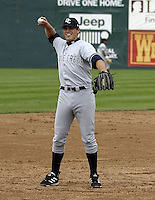 April 21, 2004:  Third baseman Eric Duncan of the Battle Creek Yankees, Midwest League low-A affiliate of the New York Yankees, during a game at Memorial Stadium in Fort Wayne, IN.  Photo by:  Mike Janes/Four Seam Images