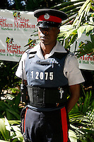 Police Officer at the Reggae Marathon Pasta Party. Photo by Errol Anderson.