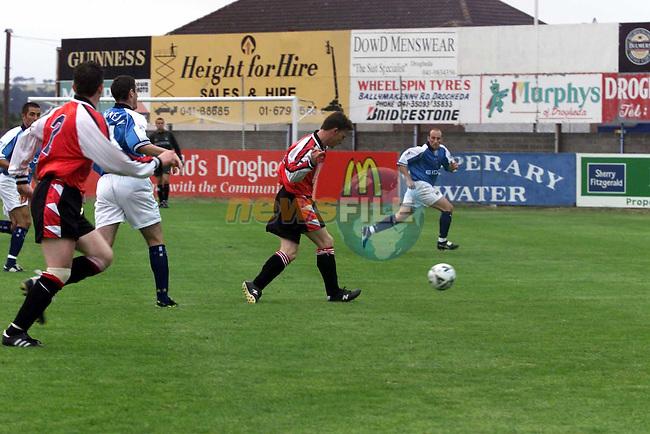 Drogheda United V Man City in United Park.Picture Fran Caffrey Newsfile