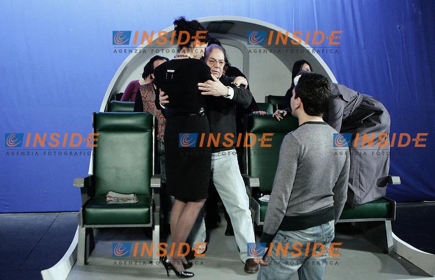 Il regista Giancarlo Nicotra durante la registrazione della puntata pilota del programma televisivo Check In.<br /> Roma 29/12/2009 Rai Studi De Paolis <br /> Foto Serena Cremaschi Insidefoto