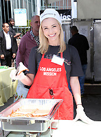 LOS ANGELES, CA - April 14: Gina Comparetto Flynn, At Los Angeles Mission's Easter Celebration For The Homeless At Los Angeles Mission  In California on April 14, 2017. <br /> CAP/MPI/FS<br /> &copy;FS/MPI/Capital Pictures