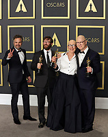 09 February 2020 - Hollywood, California -  Mark Ruffalo, Jeff Reichert, Julia Reichert, Steven Bognar attend the 92nd Annual Academy Awards presented by the Academy of Motion Picture Arts and Sciences held at Hollywood & Highland Center. Photo Credit: Theresa Shirriff/AdMedia