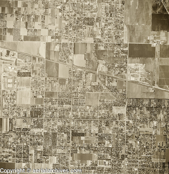 historical aerial photograph Van Nuys, California, 1947