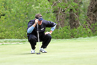 Lee Westwood lines up his putt on the 4th green during the third round of the Irish Open on 19th of May 2007 at the Adare Manor Hotel & Golf Resort, Co. Limerick, Ireland. (Photo byEoin Clarke/NEWSFILE).