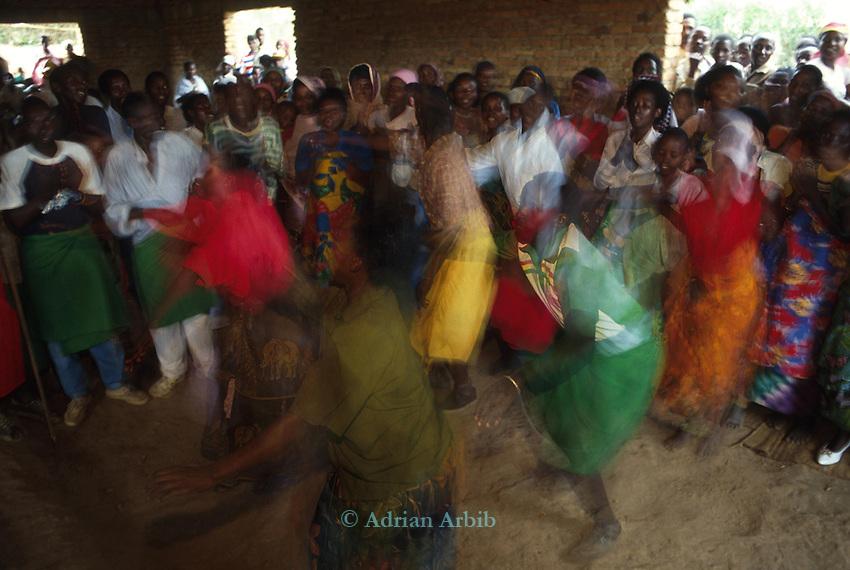 Batwa ( pygmies)  doing a traditional dance.  Rwanda