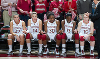 STANFORD CA-DECEMBER 30, 2010: Stanfords starting five before the Stanford 71-59 victory over UCONN at Maples Pavilion.