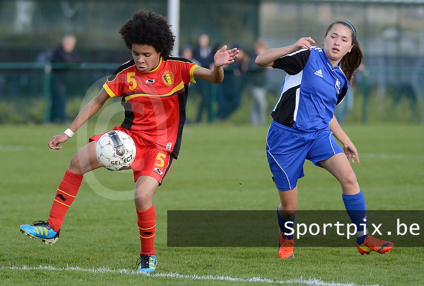 U 16 Belgian red Flames - virginia USA :<br /> <br /> Duel tussen Kassandra Ndoutou Eboa Missipo (L) en Kisaki Nicole Ray (R)<br /> <br /> foto Dirk Vuylsteke / Nikonpro.be