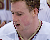 Matt Greene (BC 14) - The Boston College Eagles defeated the Harvard University Crimson 6-5 in overtime on Monday, February 11, 2008, to win the 2008 Beanpot at the TD Banknorth Garden in Boston, Massachusetts.