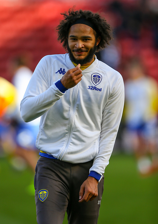 Leeds United&rsquo;s Izzy Brown warms up<br /> <br /> Photographer Alex Dodd/CameraSport<br /> <br /> The EFL Sky Bet Championship - Middlesbrough v Leeds United - Saturday 9th February 2019 - Riverside Stadium - Middlesbrough<br /> <br /> World Copyright &copy; 2019 CameraSport. All rights reserved. 43 Linden Ave. Countesthorpe. Leicester. England. LE8 5PG - Tel: +44 (0) 116 277 4147 - admin@camerasport.com - www.camerasport.com
