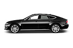 Car Driver side profile view of a 2015 Audi A7 S Line 5 Door Hatchback Side View