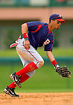 19 March 2006: Royce Clayton, infielder for the Washington Nationals,  makes a play at short during a Spring Training game against the Los Angeles Dodgers at Holeman Stadium, in Vero Beach, Florida. The Dodgers defeated the Nationals 9-1 in Grapefruit League play...Mandatory Photo Credit: Ed Wolfstein Photo..