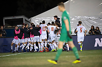 Santa Barbara, CA - Sunday, December 9, 2018:  Maryland won the 2018 Men's College Cup, defeating Akron 1-0.  Maryland celebrates Amar Sejdic's penalty kick goal.