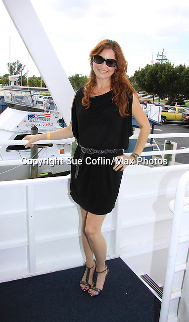 One Life To Live Melissa Archer at SoapFest's Celebrity Weekend - Cruisin' and Schmoozin' on the Marco Island Princess - mix and mingle and watching dolphins - autographs, photos, live auction raising money for kids on November 11, 2012 Marco Island, Florida. (Photo by Sue Coflin/Max Photos)