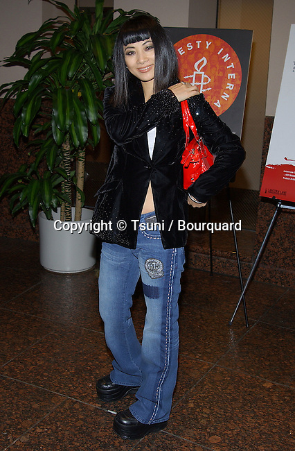 "Bai Ling arriving at the Benefit Screening for Amnesty International of ""Aileen: Life and Death of a Serial Killer "" at the Museum Of Tolerance Simon Wiesenthal Plaza in Los Angeles. January 6, 2004."