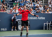 Andy Murray<br /> Tennis - US Open  - Grand Slam -  Flushing Meadows  2013 -  New York - USA - United States of America - Thursday 30th August 2013. <br /> &copy; AMN Images, 8 Cedar Court, Somerset Road, London, SW19 5HU<br /> Tel - +44 7843383012<br /> mfrey@advantagemedianet.com<br /> www.amnimages.photoshelter.com<br /> www.advantagemedianet.com<br /> www.tennishead.net