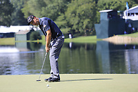 Padraig Harrington (IRL) takes his putt on the 14th green during Thursday's Round 1 of the 2017 PGA Championship held at Quail Hollow Golf Club, Charlotte, North Carolina, USA. 10th August 2017.<br /> Picture: Eoin Clarke | Golffile<br /> <br /> <br /> All photos usage must carry mandatory copyright credit (&copy; Golffile | Eoin Clarke)