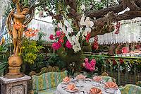 France, Provence-Alpes-Côte d'Azur, Èze Village: Interior of famous restaurant 'Mas Provencal' | Frankreich, Provence-Alpes-Côte d'Azur, Èze Village: Innenansicht des beruehmten Restaurants 'Mas Provencal'