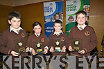 WINNERS: Lissivigeen NS who were the overall winner in the Chapter 23 School Table Quiz in Ballyroe Heights Hotel on Sunday, L-r: Lorcan Martin, Aoife Sheehan, Daniel Keane and Darragn Elbel................... . ............................... ..........
